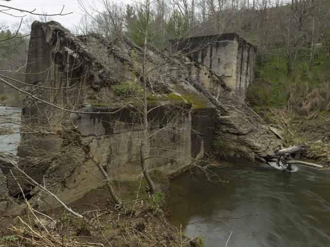 The Cane River dam pre-removal. | Jeff Rich
