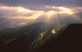Sunrise over the Columbia River, OR from Crown Point. | Tim Palmer