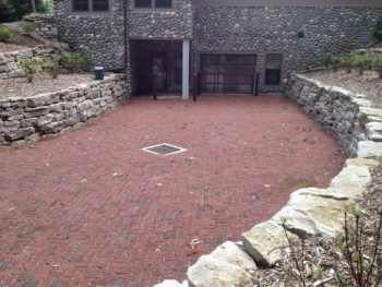Permeable pavement driveway at Camp Miakonda in Toledo, Ohio. | Katie Rousseau