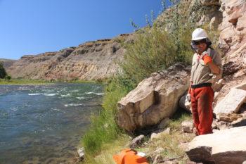 Cleaning up debris along the Gunnison River. | Dan Omasta
