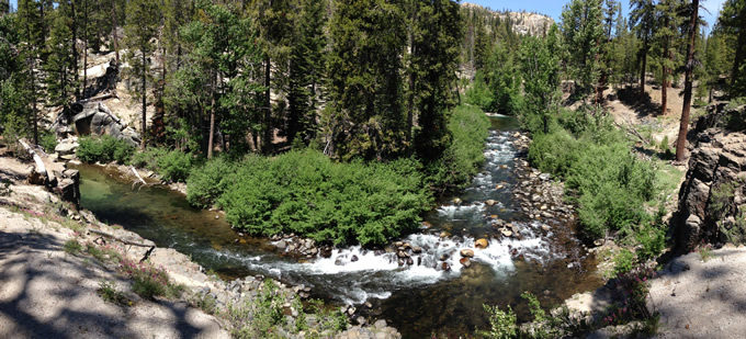 The San Joaquin River at Devil's Postpile National Monument in Madera County, CA. | Akos Kokai