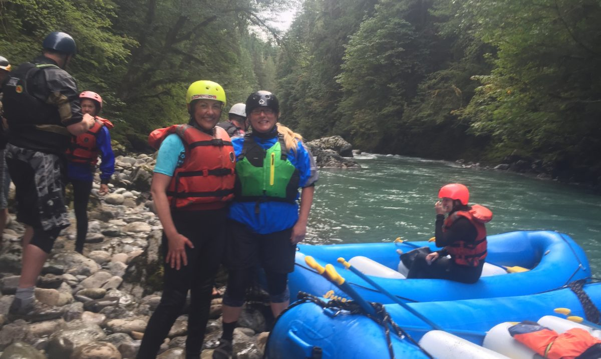 American Rivers' Wendy McDermott and Congresswoman Suzan DelBene on the Nooksack River.