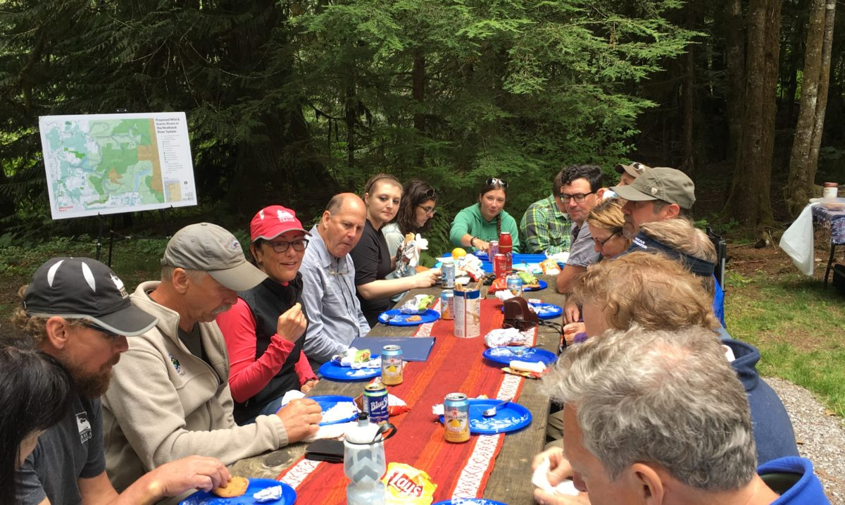 Lunch discussion about the Nooksack River as a Wild and Scenic River with Congresswoman Suzan DelBene.