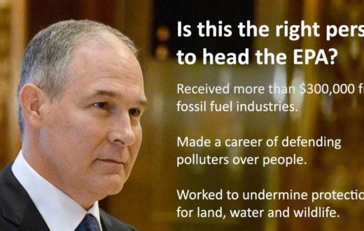 Scott Pruitt - wrong choice for protecting our nation's rivers