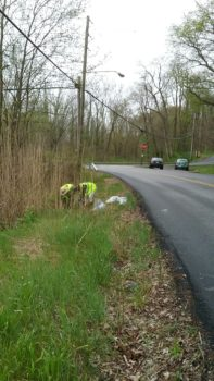 Keith Cox and his small volunteer group didn't have to look far to find trash in their neighborhood.   Keith Cox