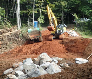During construction of the new channel.   NCWRC