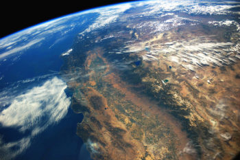 California's Central Valley from space. | Stuart Rankin