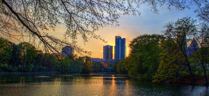 Sunset at Atlanta's Piedmont Park. | Chris McClanahan