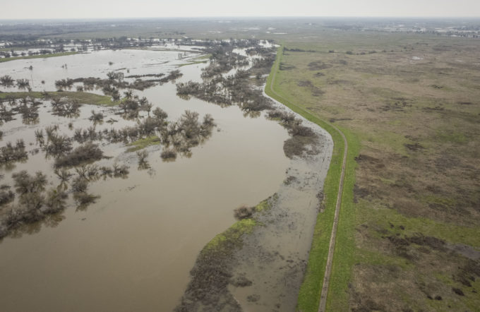 Aerial drone images capture flooding dynamics along the San Joaquin River. | Daniel Nylen