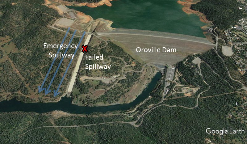 Map Of California Oroville Dam.Troubles At California S Oroville Dam Are A Wake Up Call American