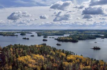 Aerial view of the Boundary Waters Canoe Area Wilderness, Northwoods, Minnesota. | Jim Brandenburg