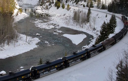 Oil trains on MF Flathead | Roy Luck