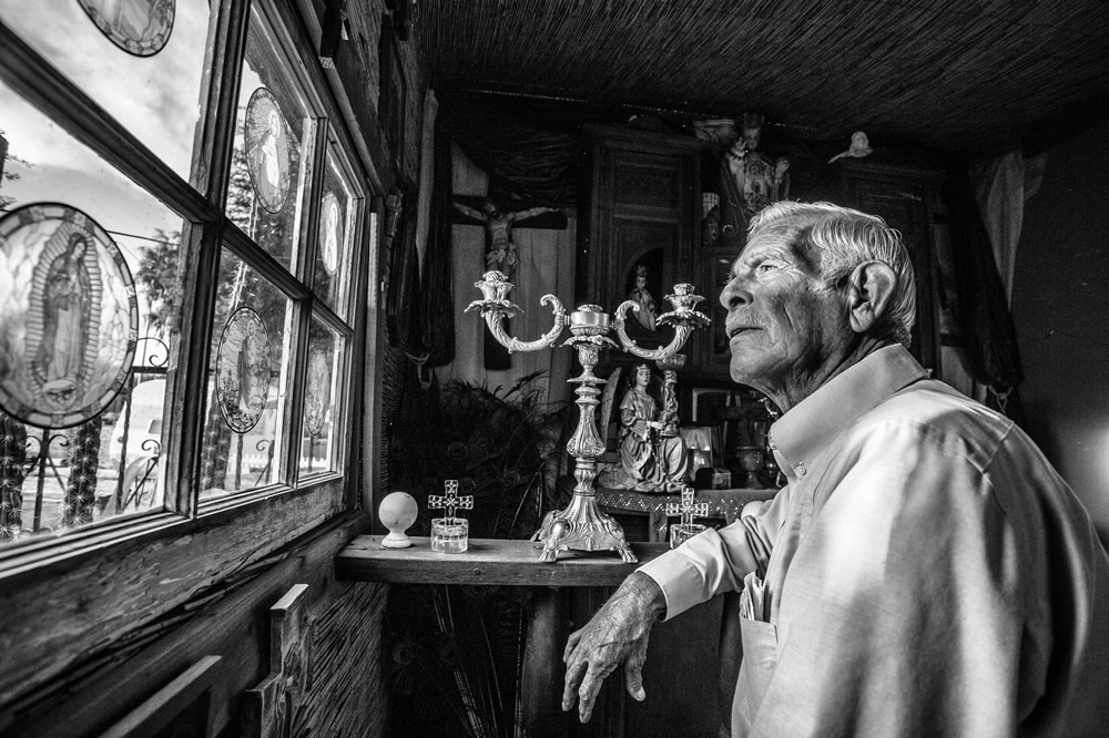 Louis Gradias reflects on life and legacy of the Colorado River from his home in Gadsden, Arizona. | Amy Martin