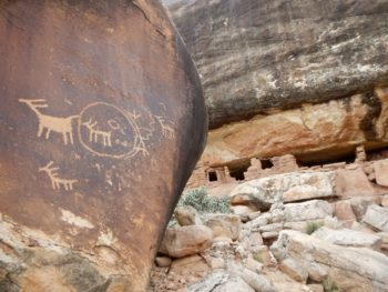 Petroglyphs and a remote cliff house, Bears Ears National Monument, UT. | Mike Fiebig