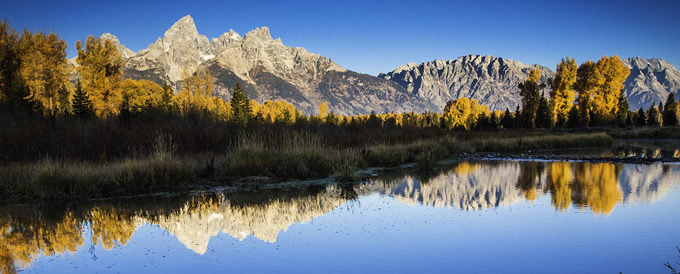 Schwabacher Landing sunrise along the Snake River in Grand Teton National Park, Wyoming. | Photo by Scott Law (Flickr)