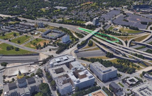 In the green highlighted area, the GSI pilot project will begin construction in fall of 2017.