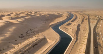 Canals of diverted Colorado River water run through the desert.   Photo: Justin Clifton