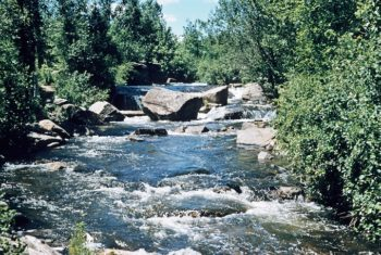 Rapids on the Evergreen River on the Menominee Indian Reservation | Photo: WI Dept. of Natural Resources