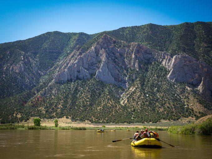 Yampa River rafting, CO.   Photo: Sinjin Eberle