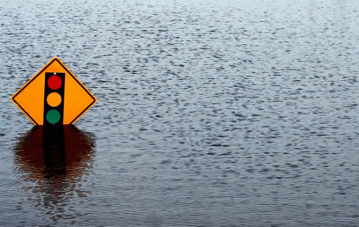 Flooded sign | Photo: Alachua County
