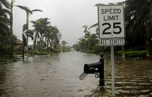 Flooding in Naples, Florida following Hurricane Irma on September 10th, 2017. | Photo: David Goldman/AP