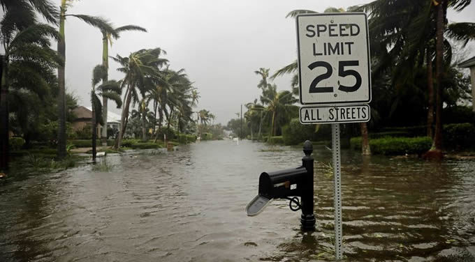 Flooding in Naples, Florida following Hurricane Irma on September 10th, 2017. | Photo: David Goldman/AP