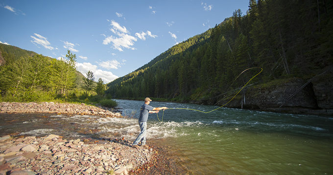 Fly fishing the Middle Fork Flathead. | Photo: Lee Cohen