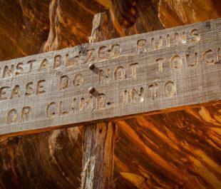 Unstabilized Ruins sign | Sinjin Eberle