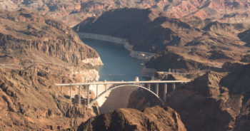 Lake Mead and the Hoover Dam. | Sinjin Eberle