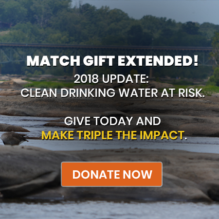 Match gift extended! 2018 update: Clean drinking water at risk. Give today and make triple the impact. Donate today!