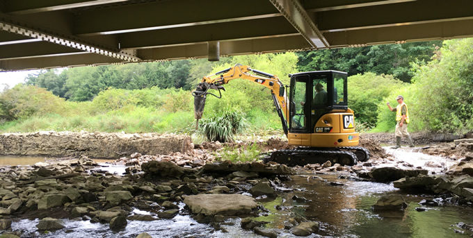 Eckenrode Dam removal on August 14, 2017