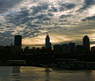 Sunrise and the Ralegih skyline. | Photo: Jeanette Runyon