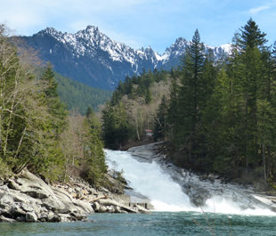 Sunset Falls on the South Fork Skykomish. | Lora Cox