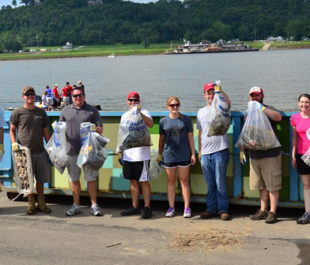 Ohio river sweep volunteers. | Ohio River Valley Water Sanitation Commission