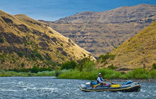 Paddling Washington's Grande Ronde River at the lower canyon above The Narrows. | Tim Palmer