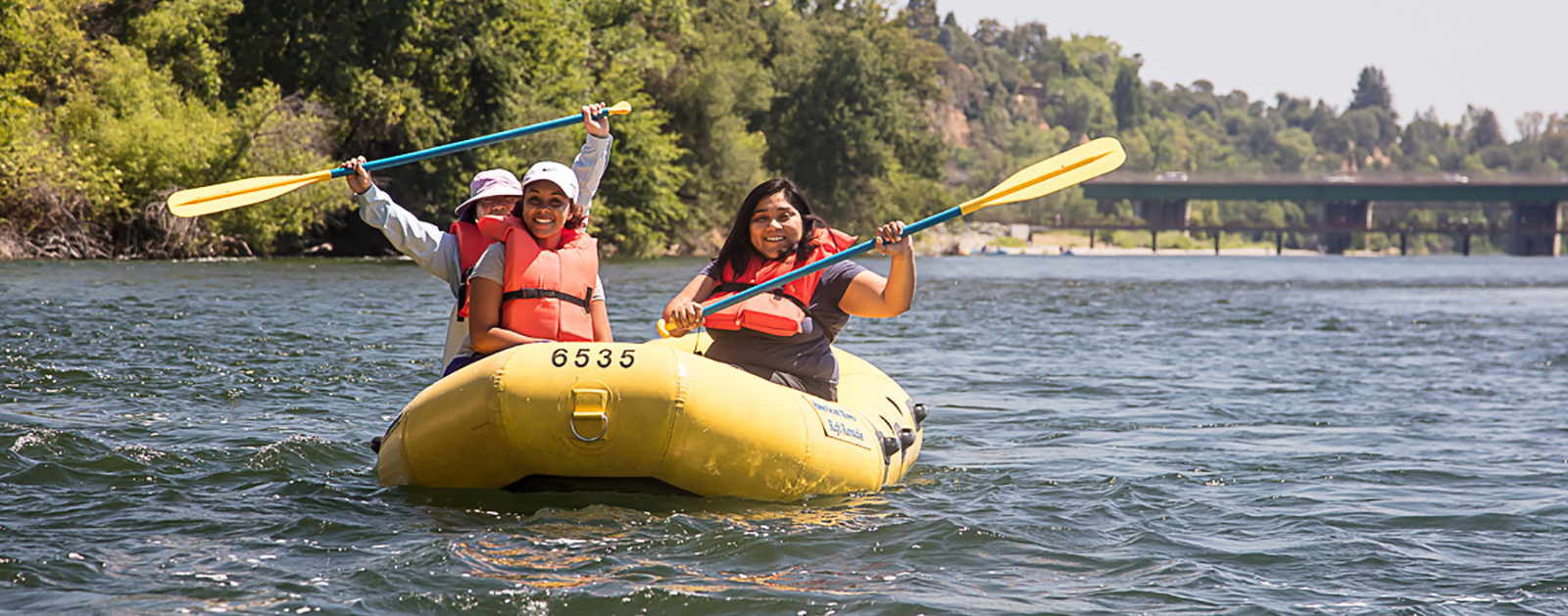 Rafting the American River.