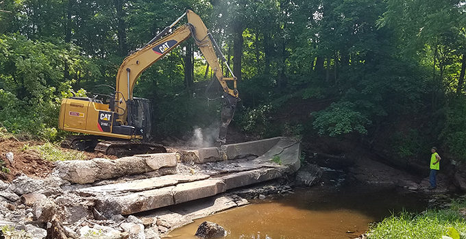 Delp Dam being removed on Indian Creek, PA/ | Jessie Thomas-Blate