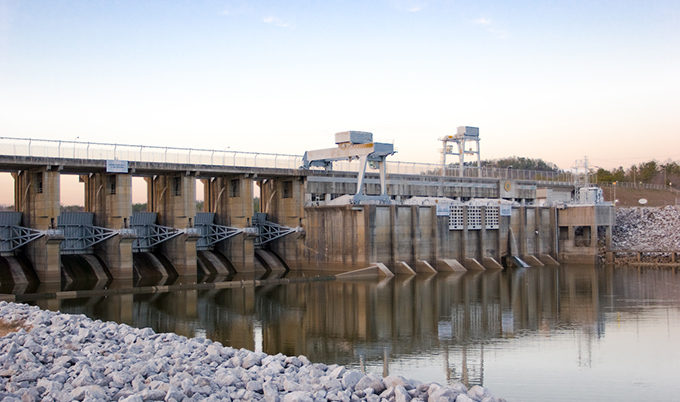H. Neely Henry Dam, built and operated by Alabama Power Company, on the Coosa River. | Kerry Sanders