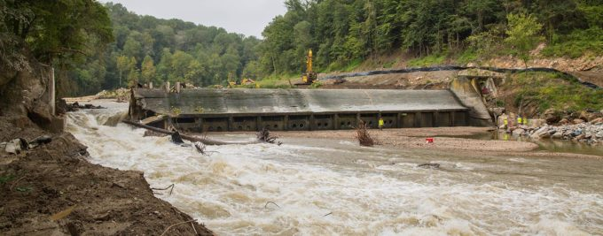 Breached Bloede Dam. | Jim Thompson, Maryland Department of Natural Resources