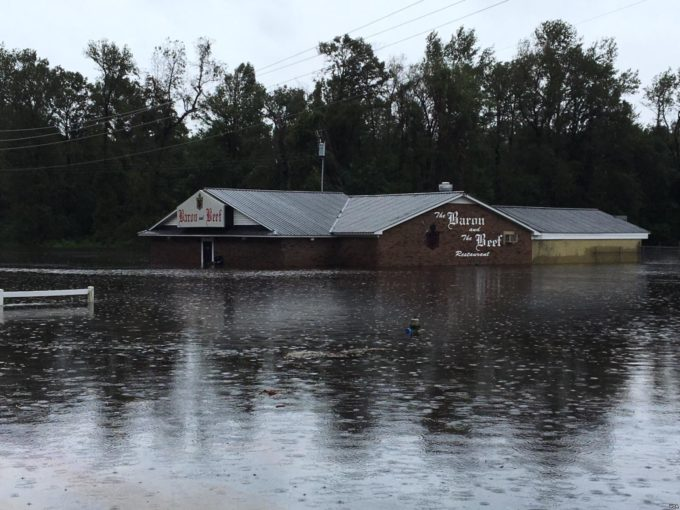 Neuse River flooding, photo from Voice of America