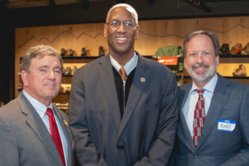 American Rivers President Bob Irvin, Congressman Donald McEachin and REI Foundation President Marc Berejka.