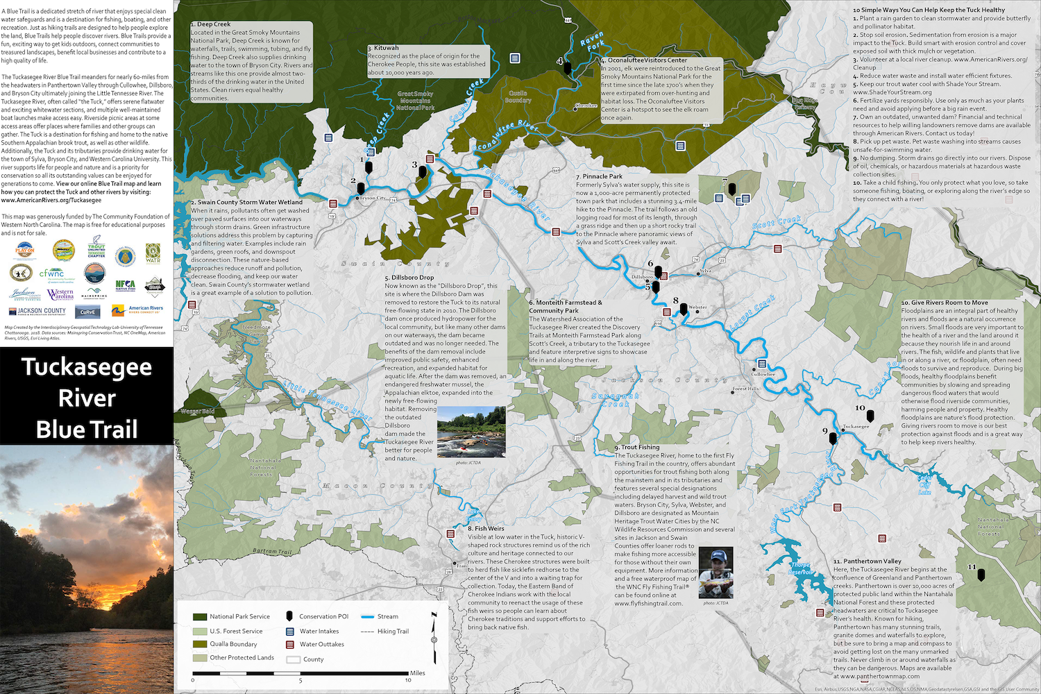 Tuckasegee River Blue Trail Map Released American Rivers