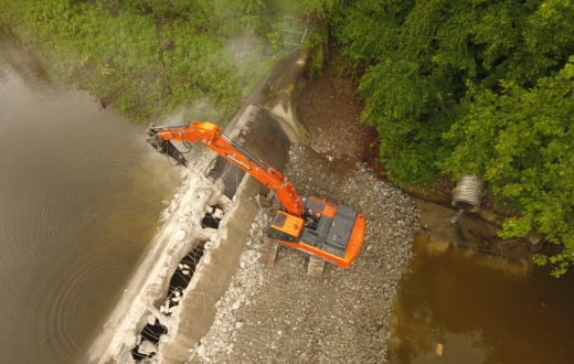 Columbia Dam breach | Photo by the Nature Conservancy