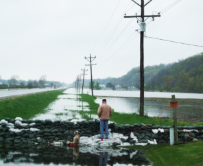 Levee break in Winfield, MO | Photo by Nancy Guyton