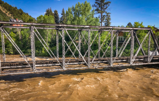 Durango to Silverton train tracks over the Animas River | Photo by Spencer Snarr