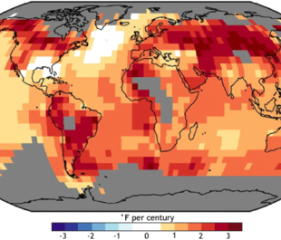 NOAA NCDC climate assessment temp trends map