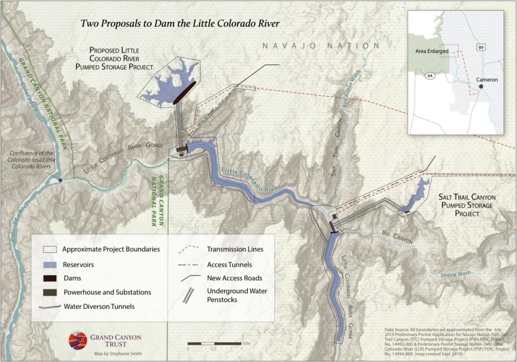 Two Proposed Dams On The Little Colorado | Photo by Stephanie Smith, Grand Canyon Trust