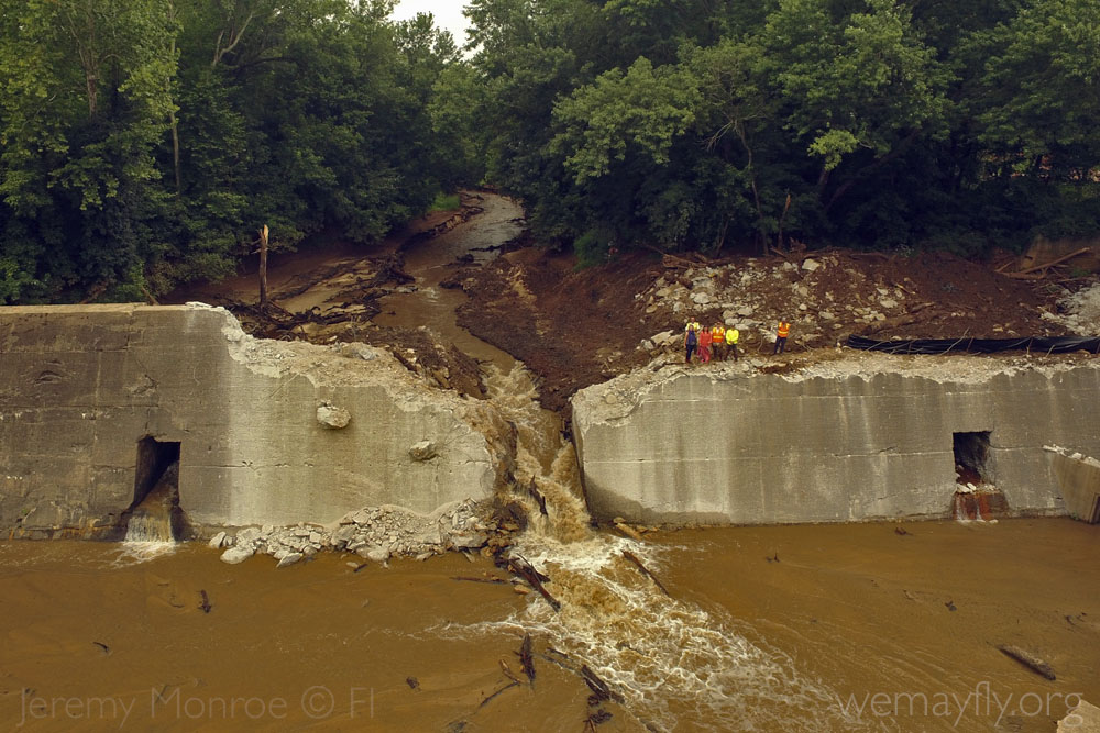 Shuford Dam Removal | Photo by Jeremy Monroe, Freshwaters Illustrated