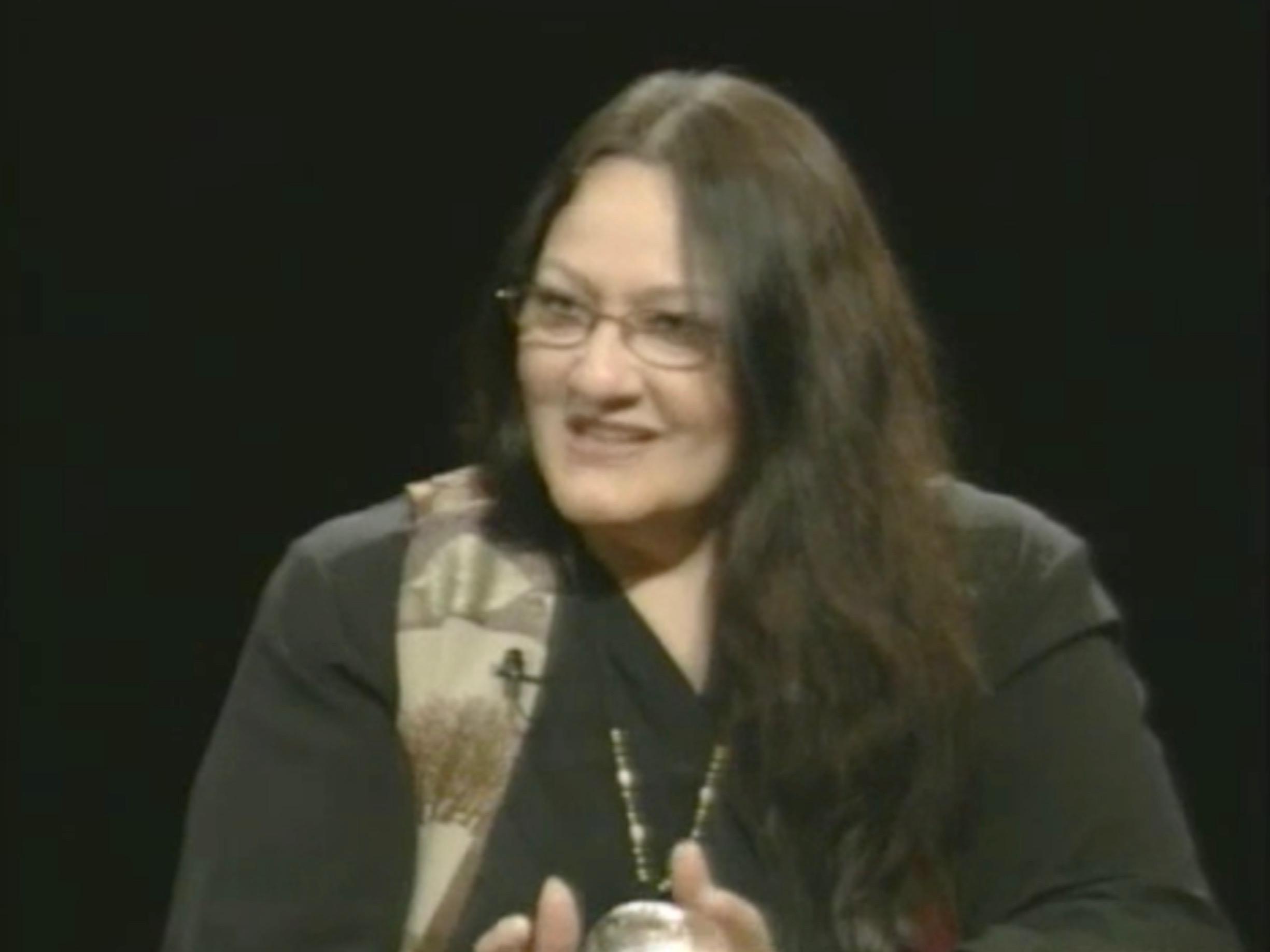 Activist Suzan Shown Harjo (Cheyenne, Hodulgee Muscogee) from Evening Exchange, WHUT (2001), https://americanarchive.org/catalog/cpb-aacip-293-ft8df6kg2n.