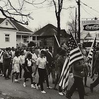Peter Pettus, photographer. Civil rights march from Selma to Montgomery, Alabama, 1965. Prints and Photographs Division, Library of Congress.